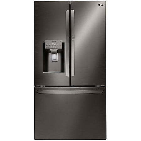 LG - LFXS28566D - 28 cu ft Smart Wi-Fi Enabled Door-in-Door Refrigerator - Black Stainless Steel