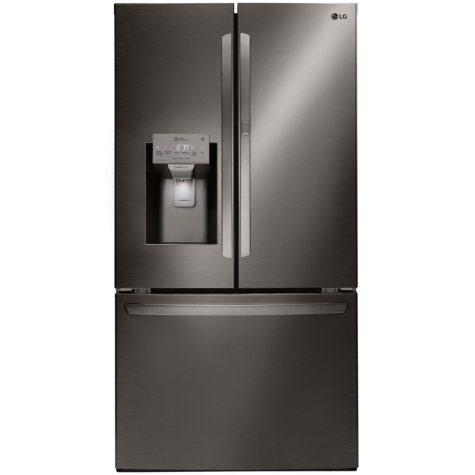 LG LFXS28566D - 28 cu ft Smart Wi-Fi Enabled Door-in-Door Refrigerator - Black Stainless Steel