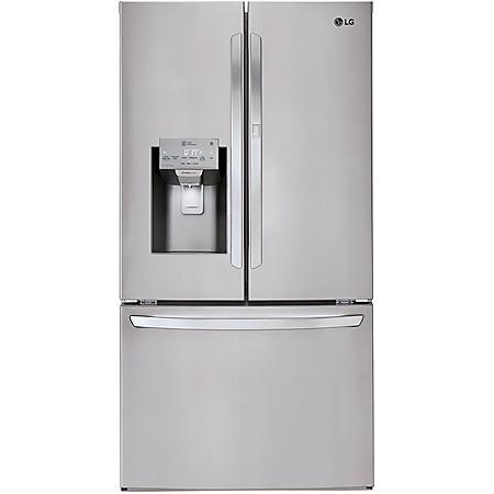 LG - LFXS28566S - 28 cu ft Smart Wi-Fi Enabled Door-in-Door Refrigerator - Stainless Steel