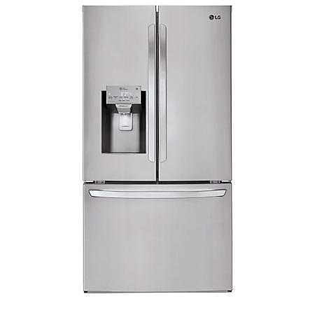 LG - LFXS28968S - 28 cu ft Ultra Large Capacity 3-Door French Door Refrigerator, Stainless Steel
