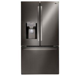 LG - LFXS28968D - 28 cu ft Ultra Large Capacity 3-Door French Door Refrigerator, Black Stainless Steel