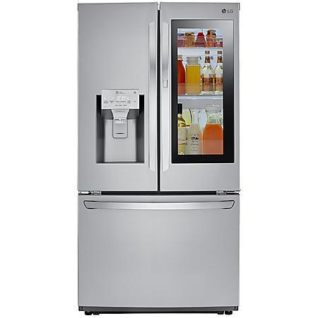 LG - LFXS26596S - 26 cu ft Smart Wi-Fi Enabled InstaView Door-In-Door Refrigerator - Stainless Steel
