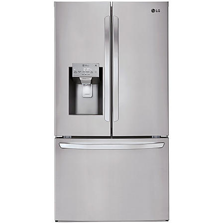 LG - LFXS26973S - 26 cu ft Capacity Smart Wi-Fi Enabled French Door Refrigerator - Stainless Steel