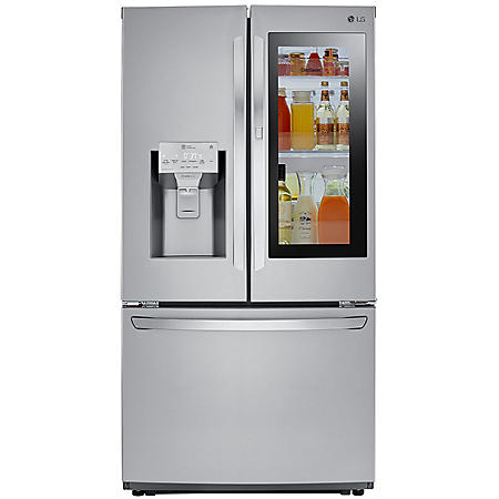 LG - LFXC22596S - 22 cu ft Smart Wi-Fi Counter Depth InstaView Door-In-Door Refrigerator - Stainless Steel