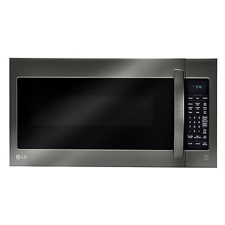LG - 2.0 cu.ft. Over-the-Range Microwave Oven - LMV2031BD Black Stainless Steel