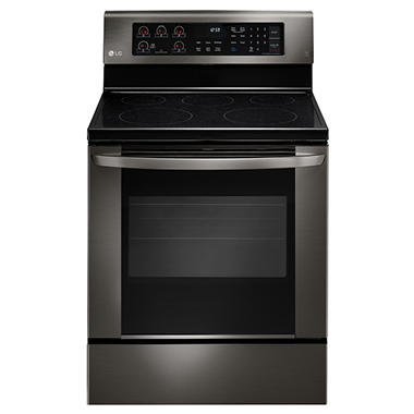 Single Oven Electric Range With Easyclean Lre3061bd Black