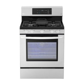 LG - LRG3193ST - 5.4 cu. ft. Gas Single Oven Range with EvenJet Fan Convection, Stainless Steel