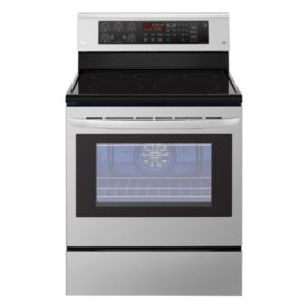 LG - LRE3193ST - 6.3 cu. Ft. Electric Single Oven Range with True Convection, Stainless Steel