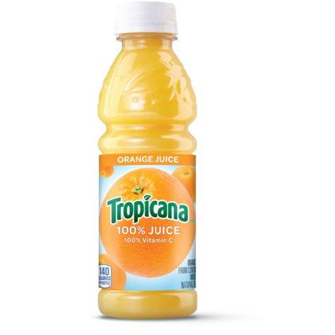 Tropicana 100% Orange Juice, Single Bottle (10 fl. oz.)