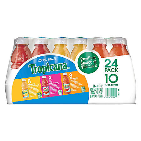 Tropicana 100% Juice Fruit Blend Variety Pack (10oz / 24pk)