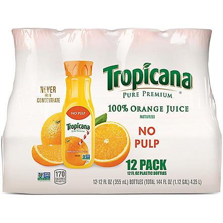 Tropicana Pure Premium Orange Juice (12 fl. oz. bottles, 12 pk.)