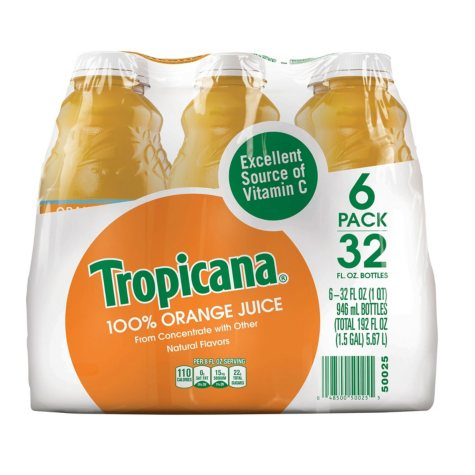 Tropicana 100% Orange Juice - 6/32 oz.
