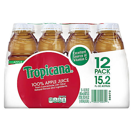 Tropicana 100% Juice, Apple Juice (15.2 oz., 12 pk.)