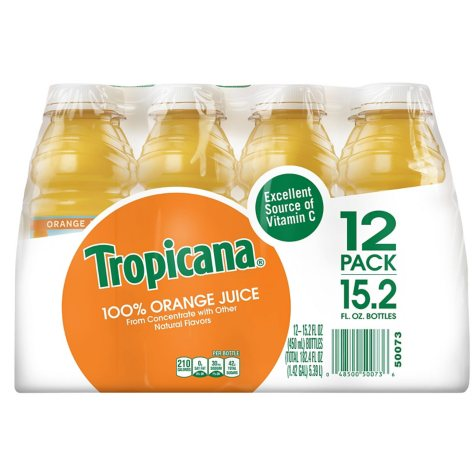Tropicana Orange Juice - 12/15.2 oz. bottles