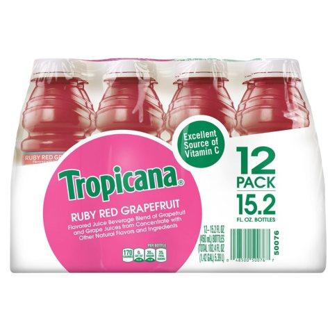 Tropicana Ruby Red Grapefruit -12/15.2 oz. btls