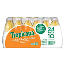 Tropicana 100% Orange Juice (10 oz. bottles, 24 pk.)