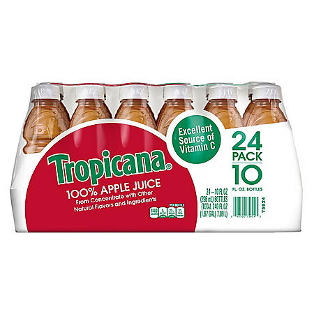 Tropicana 100% Apple Juice (10oz / 24pk)