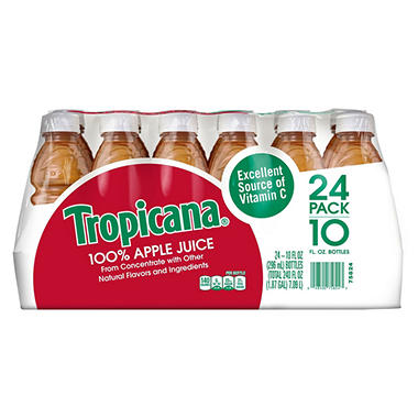 Tropicana 100% Apple Juice (10 oz. bottles, 24 pk.)