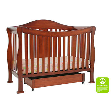 DaVinci Parker 4-n-1 Convertible Crib with Toddler Rail - Cherry