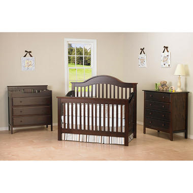 DaVinci Jayden 4-in-1 Convertible Crib with Toddler Bed Conversion Kit, Espresso