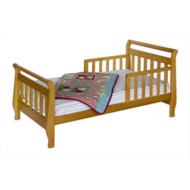 Sleigh Toddler Bed - Oak