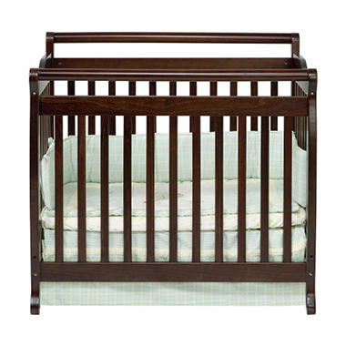 Lily 2-in-1 Mini Crib - Espresso