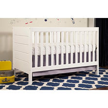 Baby Mod Modena 3-in-1 Convertible Crib, White