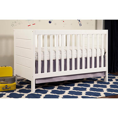 Baby Mod Modena 3 In 1 Convertible Crib, White