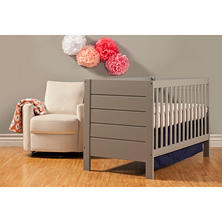 Baby Mod Modena 3-in-1 Convertible Crib, Gray