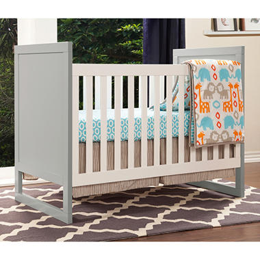 Baby Mod Modena Mod Two Tone 3 In 1 Convertible Crib, Gray