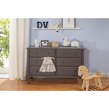 DaVinci Jayden 6-Drawer Double Wide Dresser, Slate