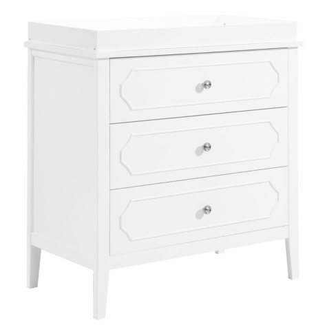 DaVinci Poppy Regency 3-Drawer Dresser, White