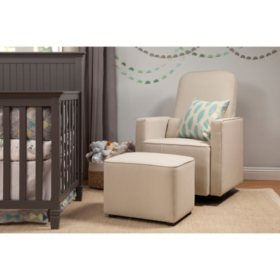 DaVinci Olive Glider and Ottoman, Cream