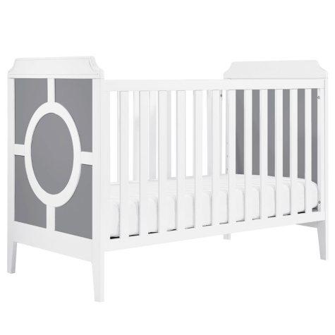 DaVinci Poppy Regency 3-in-1 Convertible Crib, Gray & White