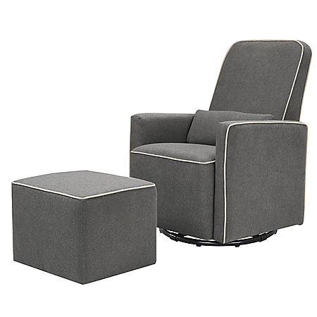 DaVinci Olive Swivel Glider with Bonus Ottoman (Choose Your Color)