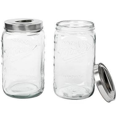 Mason Clear Glass Canisters Set Of 2
