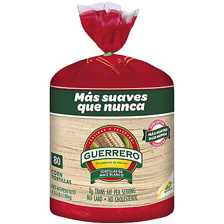 Guerrero White Corn Tortillas (80 ct.)
