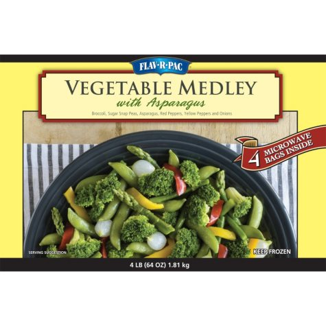 FLAV-R-PAC Vegetable Medley with Asparagus (4 lbs.)
