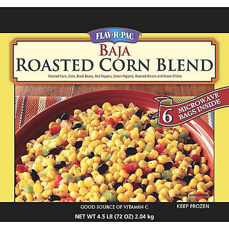 Flav-R-Pac Baja Roasted Vegetables Corn Blend - 4.5 lbs.