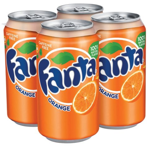 Fanta Orange Soda (12 oz. cans, 4 pk.)