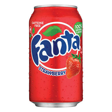 Fanta Strawberry Soda (12 oz. cans, 24 pk.)