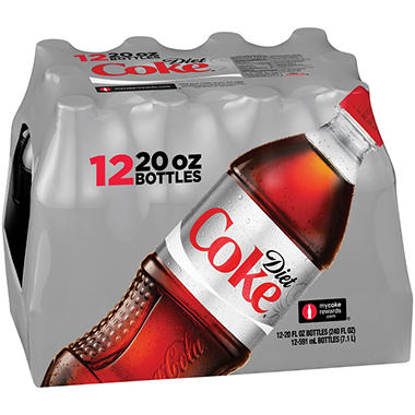 Diet Coke (20 oz. bottles, 12 pk.)