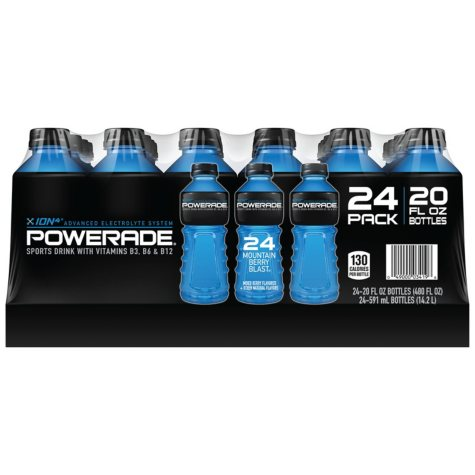 Powerade Mountain Blast Sports Drink (20 oz. bottles, 24 ct.)