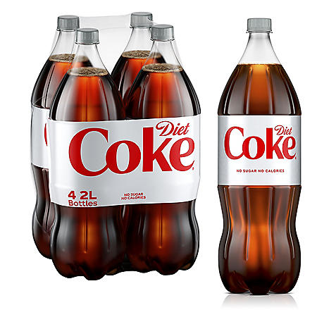 Diet Coke (2L bottle, 4 ct.)