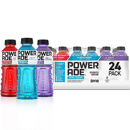 Powerade Zero Sports Drink Variety Pack (20 fl. oz., 24 pk.)