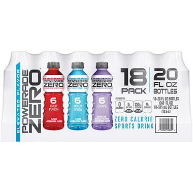 POWERADE ZERO® Variety Pack - 20 oz. - 18 ct.