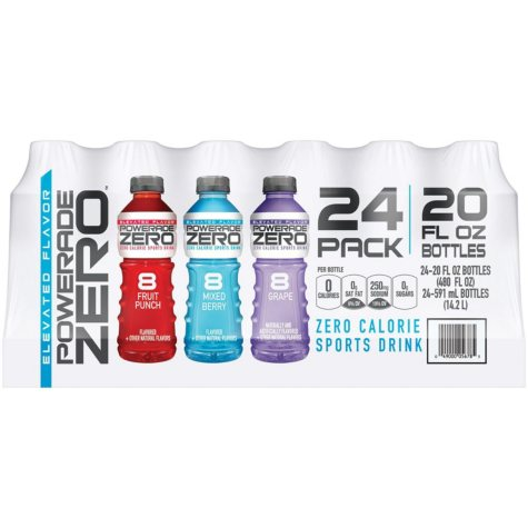 Powerade Zero Sports Drink Variety Pack (20 oz. bottles, 24 ct.)