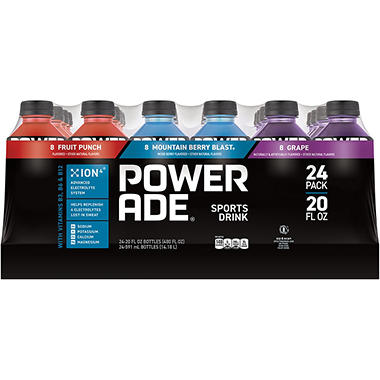 Powerade Variety Pack , 20 oz. (24 pk.)