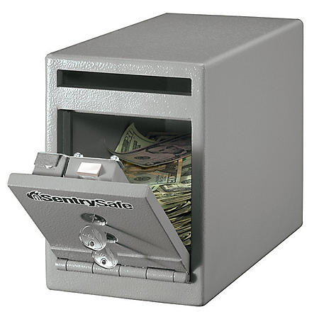SentrySafe - Depository Under Counter Safe - .25 Cubic Feet