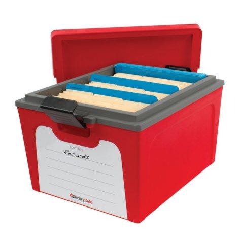 SentrySafe - Storage Fire Box, Red